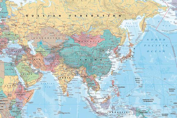 mapa Azji i bliskiego wschodu