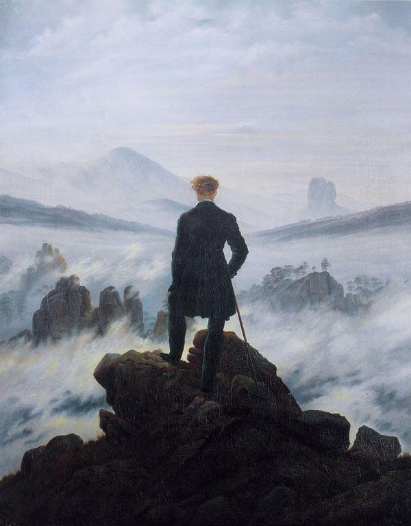 wedrowiec nad morzem mgły plakat